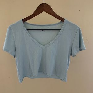Aritzia light blue crop top
